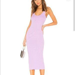 Enza Costa Rib Tank Dress in Lavender
